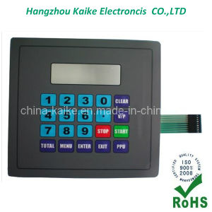 Pet Membrane Switch with Four Buttons and Transparent Window (KK-201310) pictures & photos