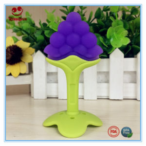 Standing Design Dummy Grape Teething Toy with Suntion Base pictures & photos