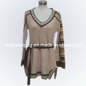 Ladies Fashion Peplum Knitted Pullover Dress Cx12s107