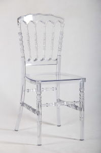 Crystal Resin Banquet Wedding Dining Napoleon Chair pictures & photos