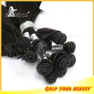 Hand Tie Hair Extension Natural Virgin Remy Indian Hair pictures & photos