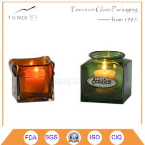 Square Glass Jar for Candle Holder Purpose pictures & photos