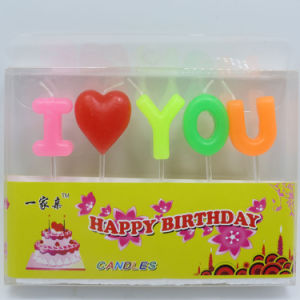 Letter Shape Candles for Birthday Cakes pictures & photos