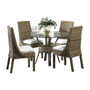 Well Furnir WF-17026 Wicker 5 Piece Dining Set pictures & photos