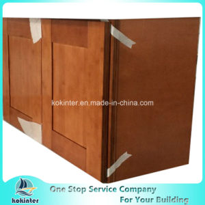 American Style Kitchen Cabinet Bamboo Shaker W3018 pictures & photos