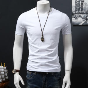 Cotton White T Shirt Dry Fit Shirt Fitness T Shirt pictures & photos