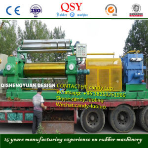 Two Roll Rubber Open Mixing Mill Machine with Stock Blender pictures & photos