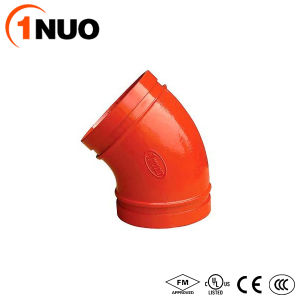 FM/UL/Ce Pipe Fittings Ductile Iron Material Grooved 45 Degree Elbow pictures & photos