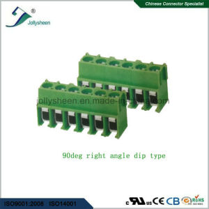 PCB Screw Terminal Blocks Pitch 5.0mm 6p 12A with Right Angle or Straight Type pictures & photos