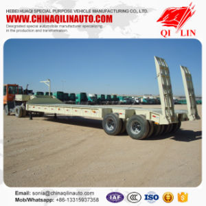 2 Axles 30 Ton Low Loader Truck Trailer for Sale pictures & photos