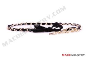 PU & Metal Chain Braided Belt (Maco264)
