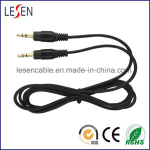 3.5mm Stereo Male to Female Aux Audio Cable pictures & photos