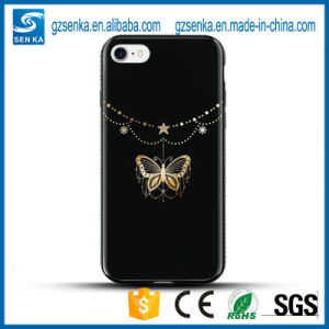 3D Luxury Gold Coated Glitter Crystal TPU Case for iPhone 7 Plus pictures & photos