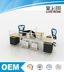 T Shaped Modern Office Partition Workstation (FA-2T)