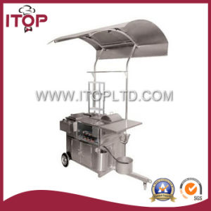 Commercial Mobile Hot Dog Cart with Ceiling (11-0002-02) pictures & photos