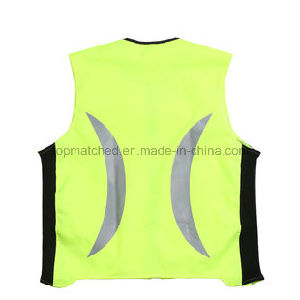 High Visibility Reflective Cycling Running Sport Safety Vest pictures & photos