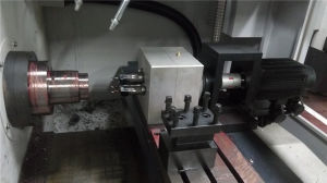 CNC Lathe Machine with 2 Axis Milling Tool pictures & photos