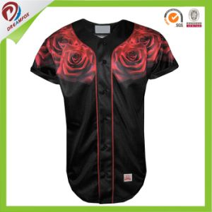 Sublimation Any Logo Customized Men Softball Rose Baseball Jersey Uniform Shirts pictures & photos