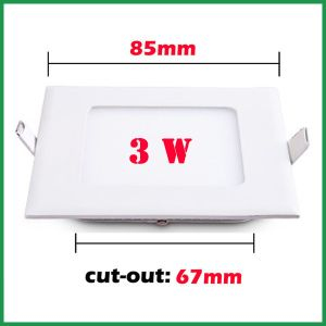 3W Mini Panel Light for Bathroom pictures & photos