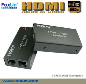 60m HDMI Extender Over Dual Cat5e Cable