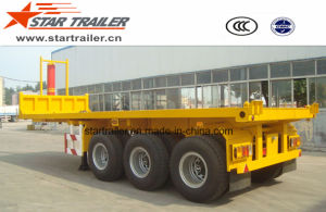 Flatbed Container Loading Tipper Trailer pictures & photos