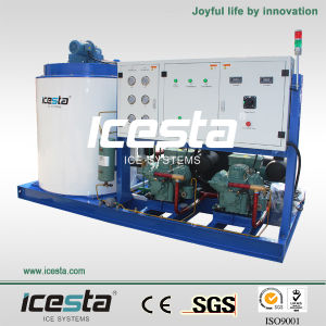China Icesta 10000kgs PLC Touch Screen Ice Machine pictures & photos