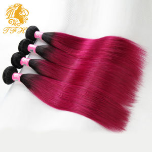 Ombre Hair Extensions Peruvian Virgin Hair Straight Three Tone Omber Human Hair 4bundles Pervian Hair pictures & photos