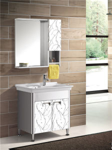 Stainless Steel Bathroom Vanity Cabinet (T-9584) pictures & photos