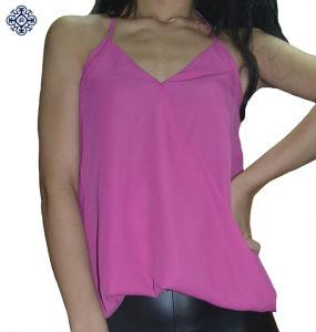 Ladies Sleeveless Chiffon Shirt Blouse (BS-75)