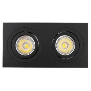 Lathe Aluminum GU10 MR16 Multi-Angle 2 Units Square Tilt Recessed LED Ceiling Light (LT2303B-2) pictures & photos