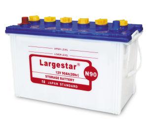 N90 12V90ah 12volt JIS Standard Acid Battery for Car Starting pictures & photos