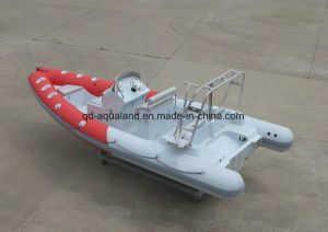 Aqualand 21feet 6.4m Fiberglass Rigid Ifnlatable Boat /Rib Motor Boat/Sports Fishing Boat pictures & photos