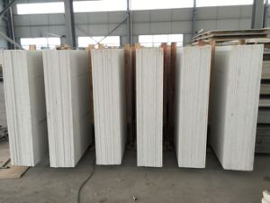 Polished White Engineered Quartz Stone Slab for Countertops pictures & photos