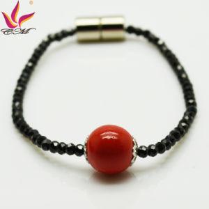 Spb-002 New Fashion Bracelet Black Super Flash Spinel Red Tourmaline Bracelet pictures & photos