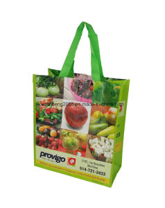Recycle PP Laminated 140GSM Handle PP Woven Shopping Bag pictures & photos