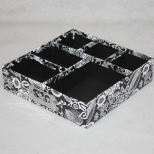 Rigid Cardboard Paper Desktop Stationery Box Tray with Dividers pictures & photos