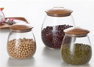 High Borosilicate Glass Air Tight Glass Jar Foor Jar for Kitchenware pictures & photos