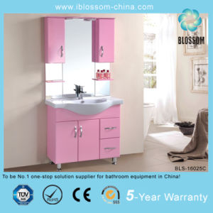Smart Pink Color Metal Legs Bathroom Vanity (BLS-16025C) pictures & photos