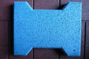 Blue Dog-Bone Rubber Floor Tiles - 13 pictures & photos