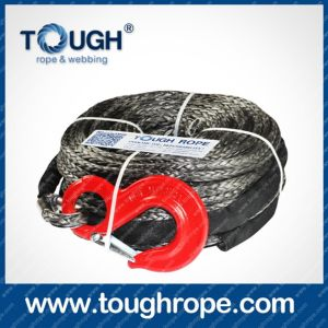 Tr-18 ATV Winch Dyneema Synthetic 4X4 Winch Rope with Hook Thimble Sleeve Packed as Full Set pictures & photos