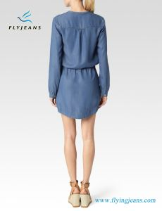 Relaxed Soft Denim Women Dresses (e. p. 527) pictures & photos