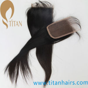 Silk Top Virgin 4*4 Lace Closure Human Hair