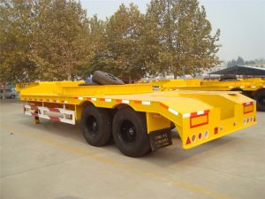 2 Axles Low Bed Semi-Trailer Without Spring Ladder pictures & photos