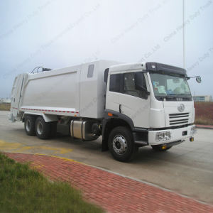 FAW 6X4 16cbm Compression Type Garbage Truck pictures & photos