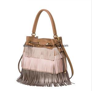 Designer PU Tassel Tote Bag Women Fashion Bucket Bag pictures & photos