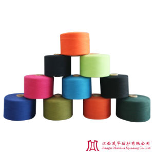 Recycled Color Polyester Cotton Carded Yarn (10-21s)