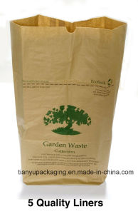 10kgs Sealed Open Mouth (SOM) Paper Bag, Kraft Paper Bag for Soybean Powder pictures & photos