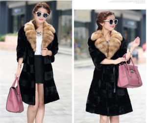 2015 Real Women Mink Fur Coat Factory Wholesale pictures & photos
