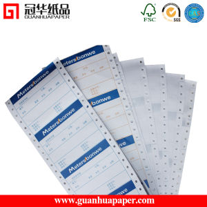 Carbonless Copy Paper (NCR Paper) in Continuous Form 48g/51g/55g/70g pictures & photos