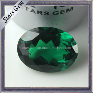 AA Emerald Green Oval Shape CZ Loose Beads for Jewelry pictures & photos